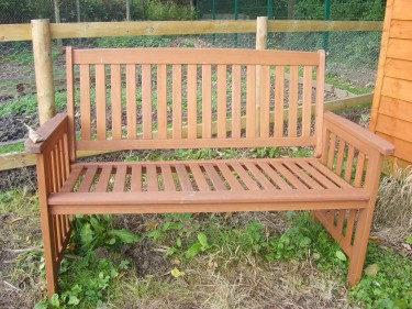 Bench pic for allotment blog